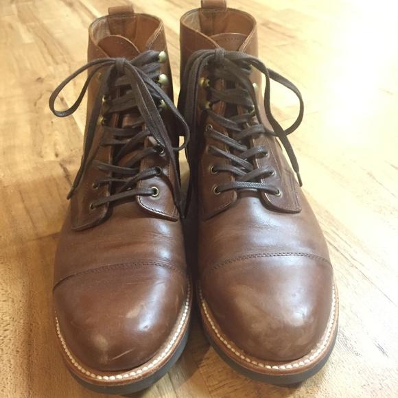 J Crew Kenton Leather Captoe Boots
